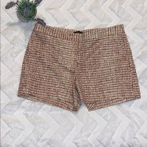 Ann Taylor red and cream devin fit shorts